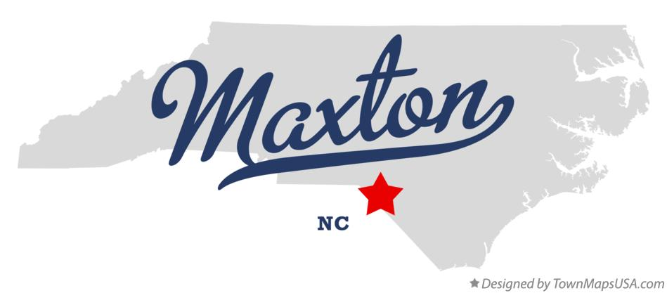 Map of Maxton North Carolina NC