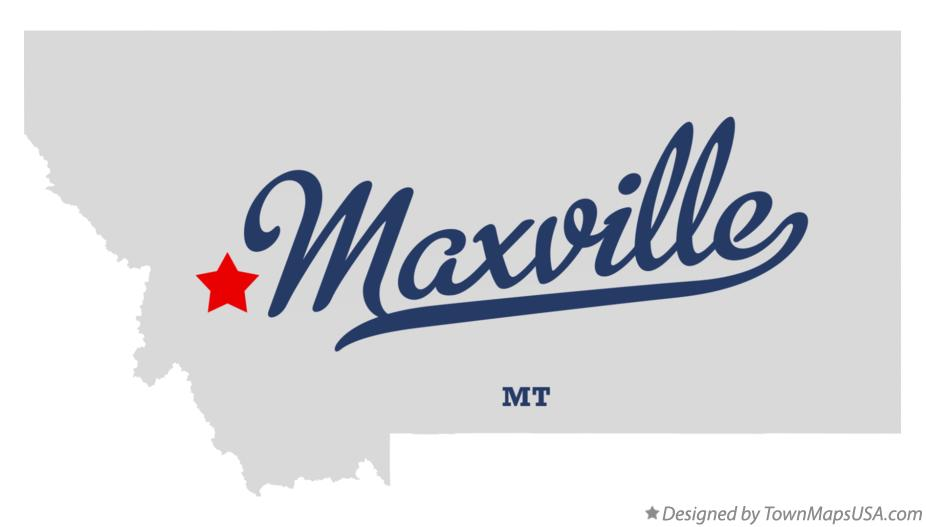 Map of Maxville Montana MT
