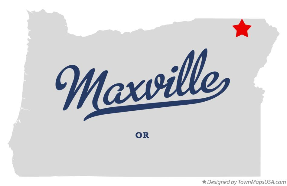 Map of Maxville Oregon OR