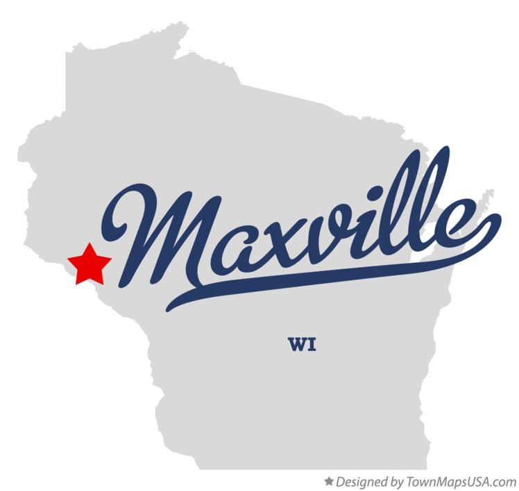 Map of Maxville Wisconsin WI