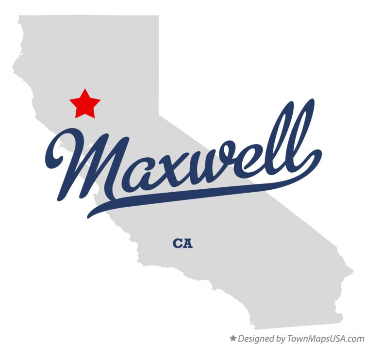 Map of Maxwell California CA