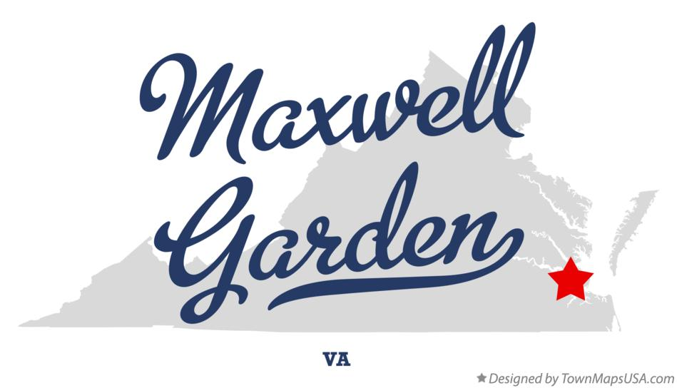 Map of Maxwell Garden Virginia VA