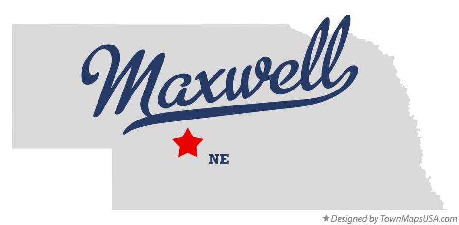 Map of Maxwell Nebraska NE