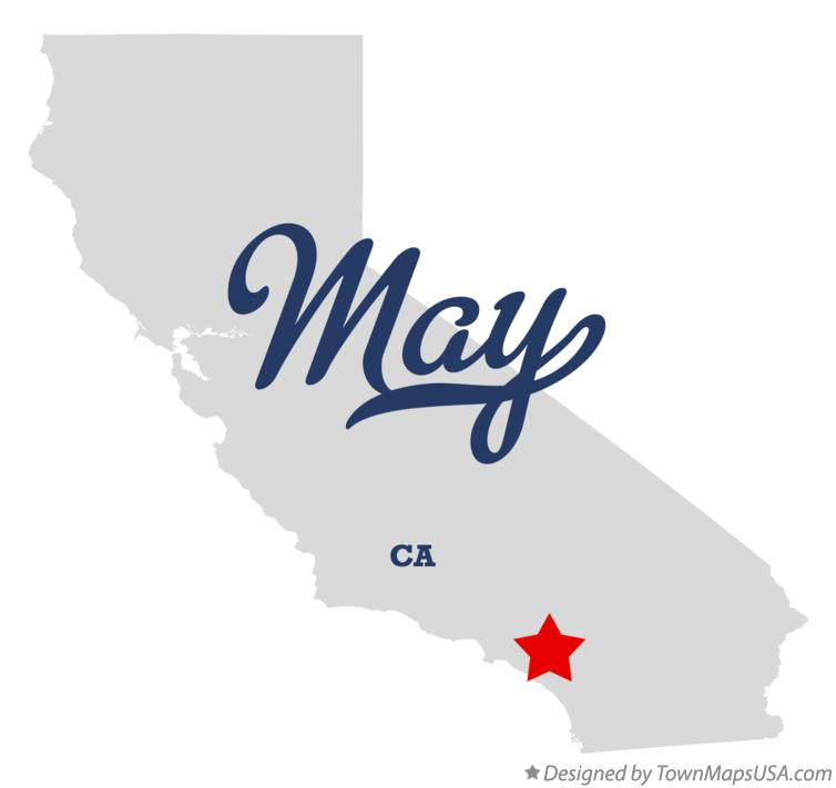 Map of May California CA