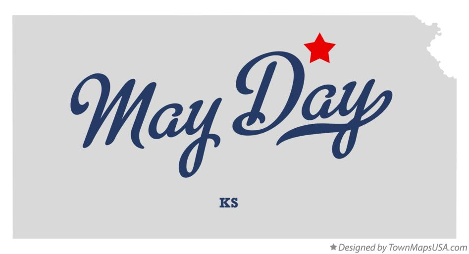 Map of May Day Kansas KS