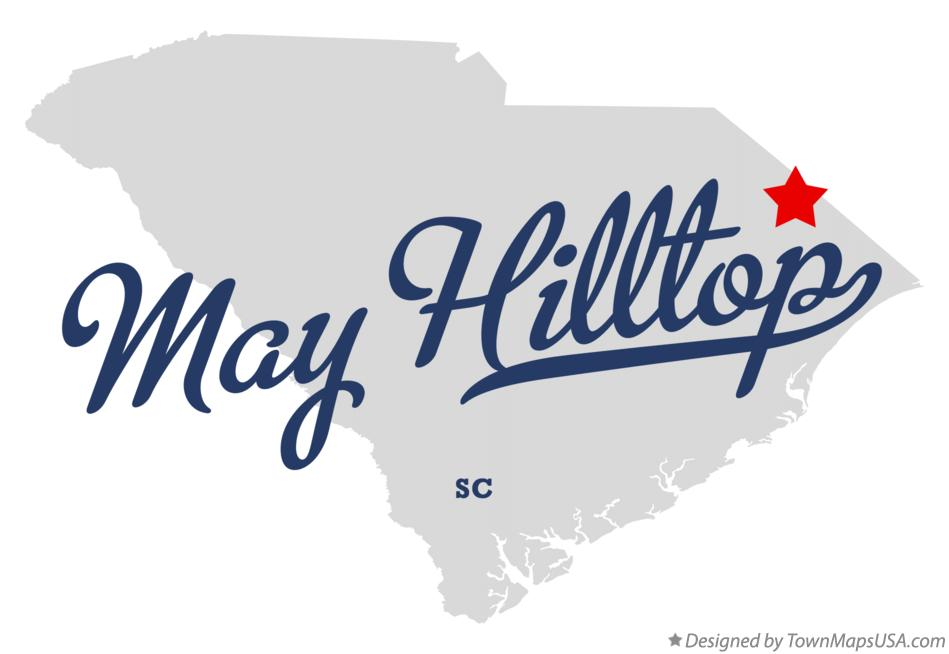 Map of May Hilltop South Carolina SC