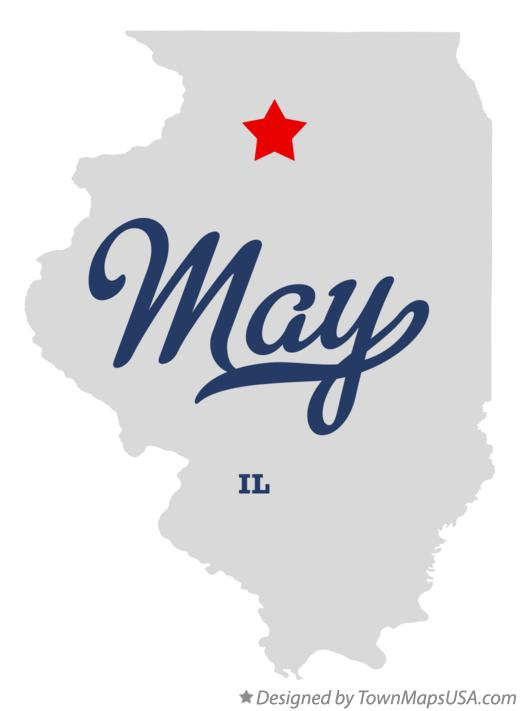 Map of May Illinois IL