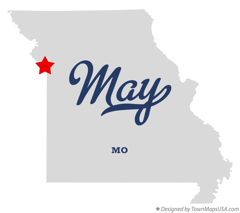 Map of May Missouri MO
