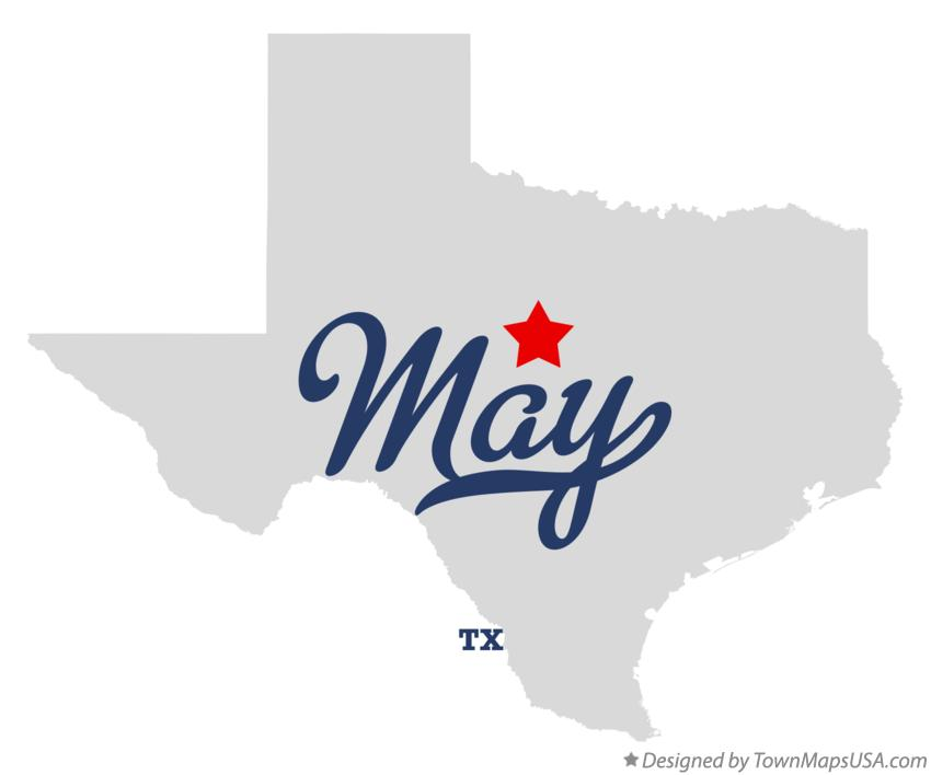 Map of May Texas TX
