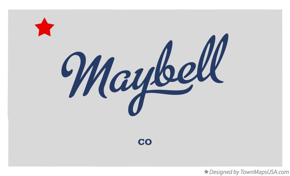 Map of Maybell Colorado CO