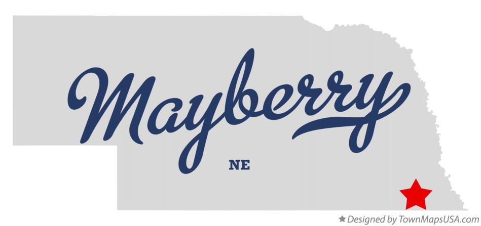 Map of Mayberry Nebraska NE