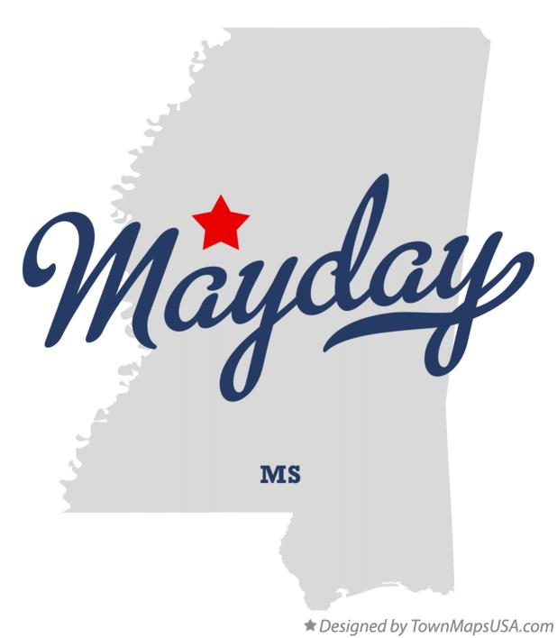 Map of Mayday Mississippi MS