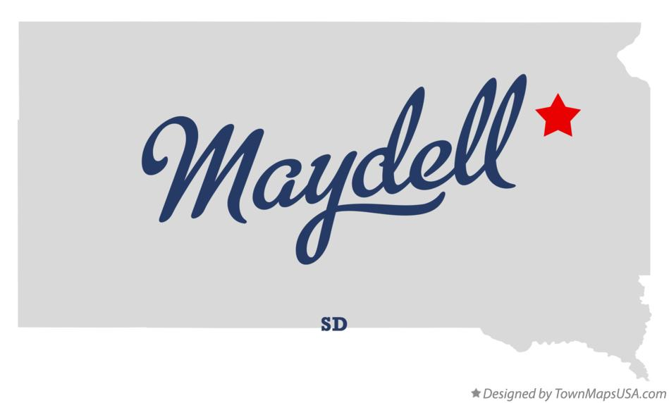 Map of Maydell South Dakota SD