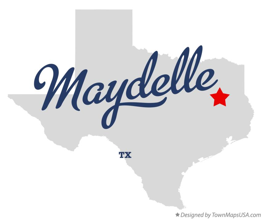 Map of Maydelle Texas TX