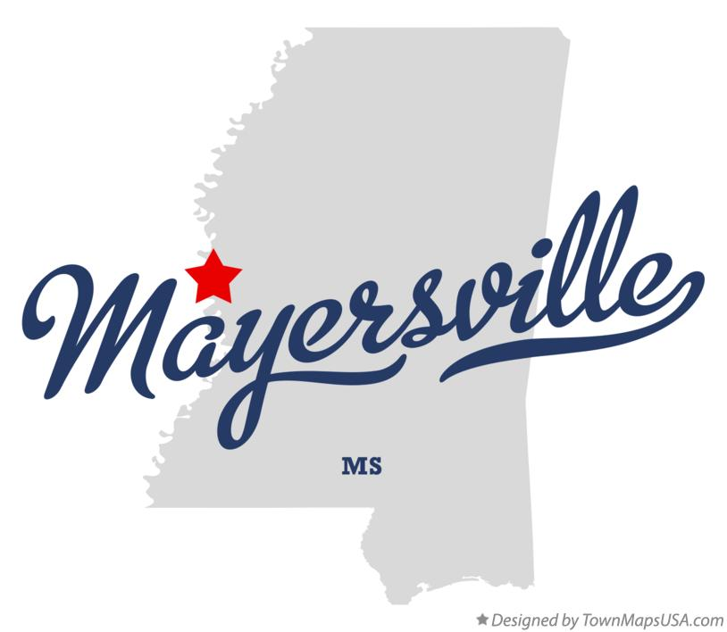 Map of Mayersville Mississippi MS