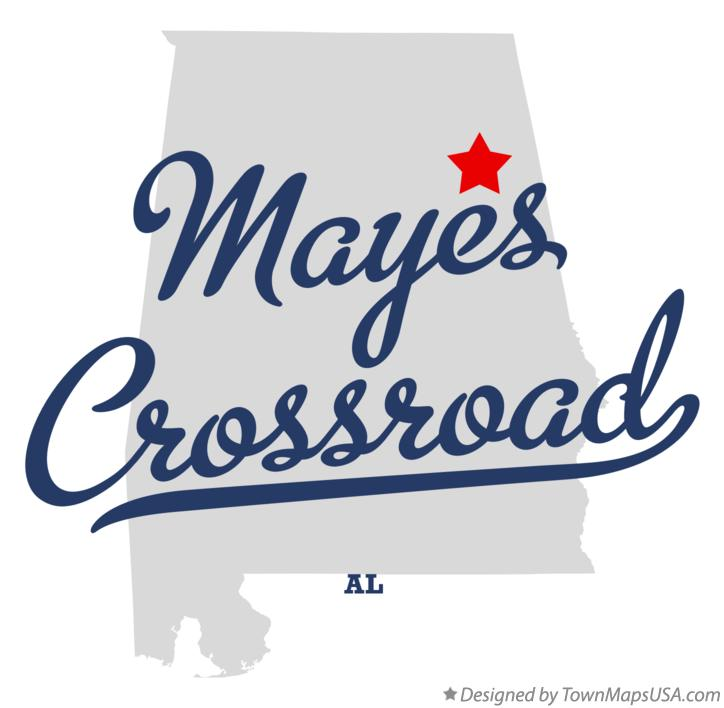 Map of Mayes Crossroad Alabama AL
