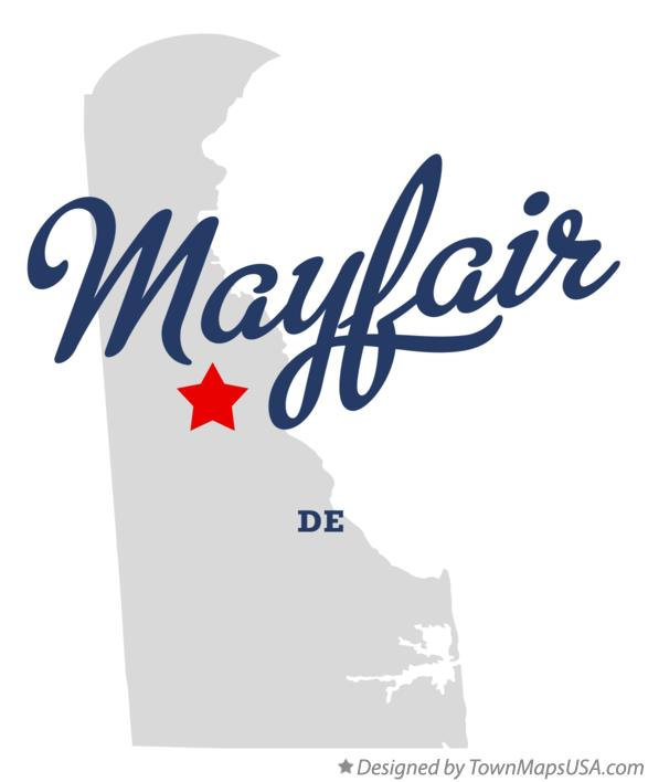 Map of Mayfair Delaware DE