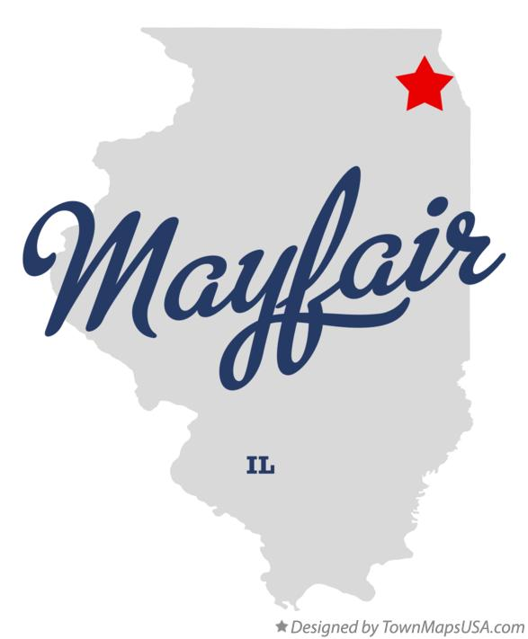 Map of Mayfair Illinois IL