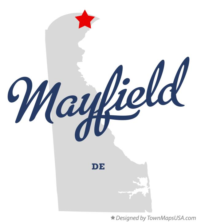 Map of Mayfield Delaware DE