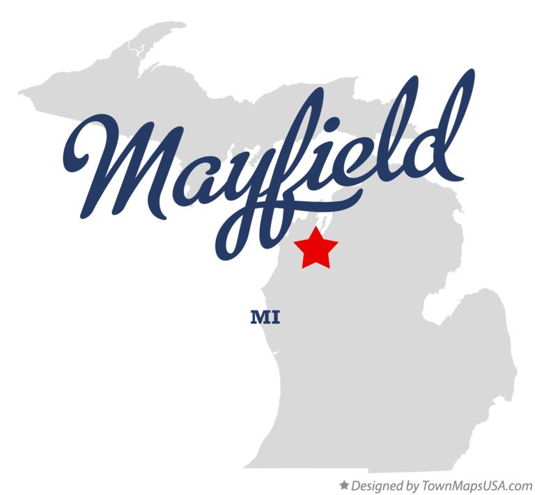 Map of Mayfield Michigan MI
