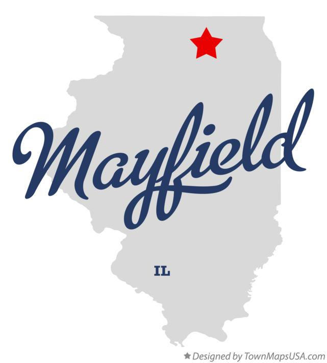 Map of Mayfield Illinois IL