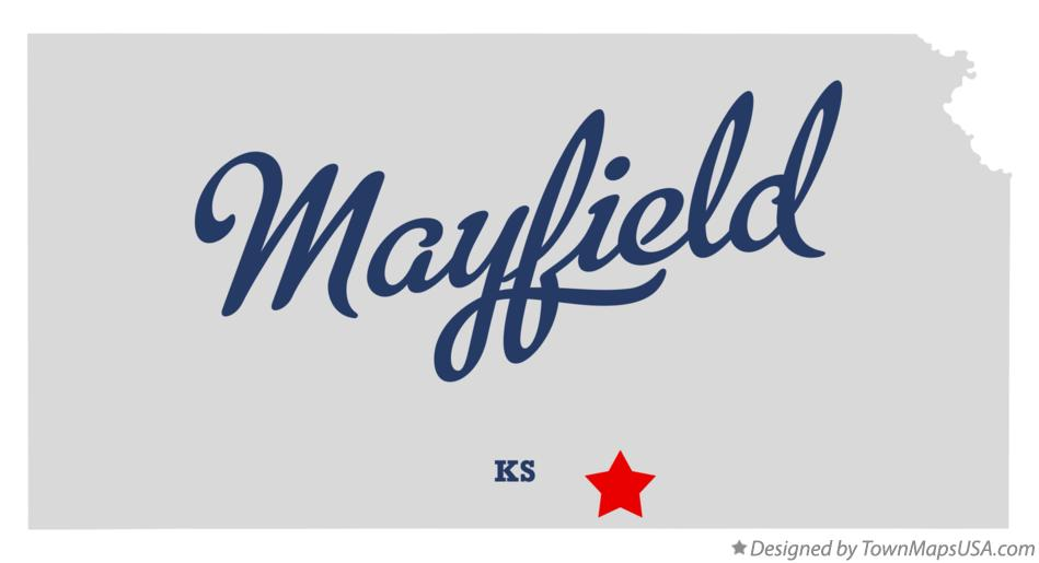 Map of Mayfield Kansas KS
