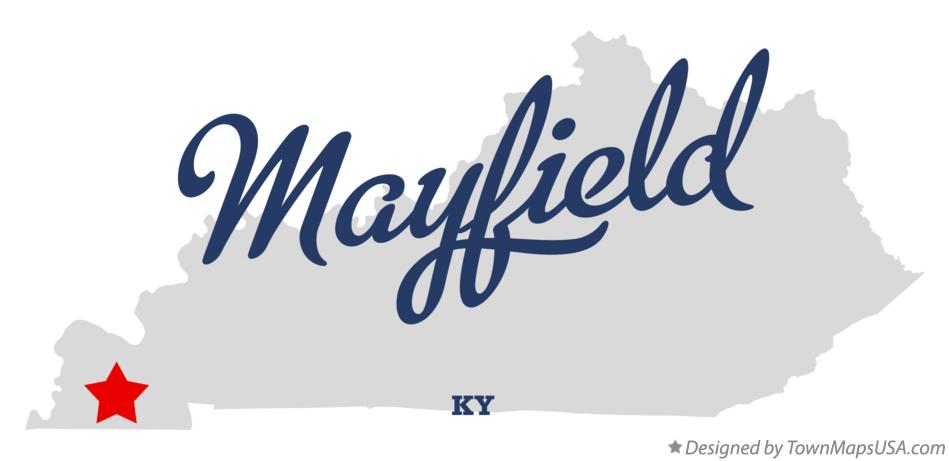 Map of Mayfield Kentucky KY