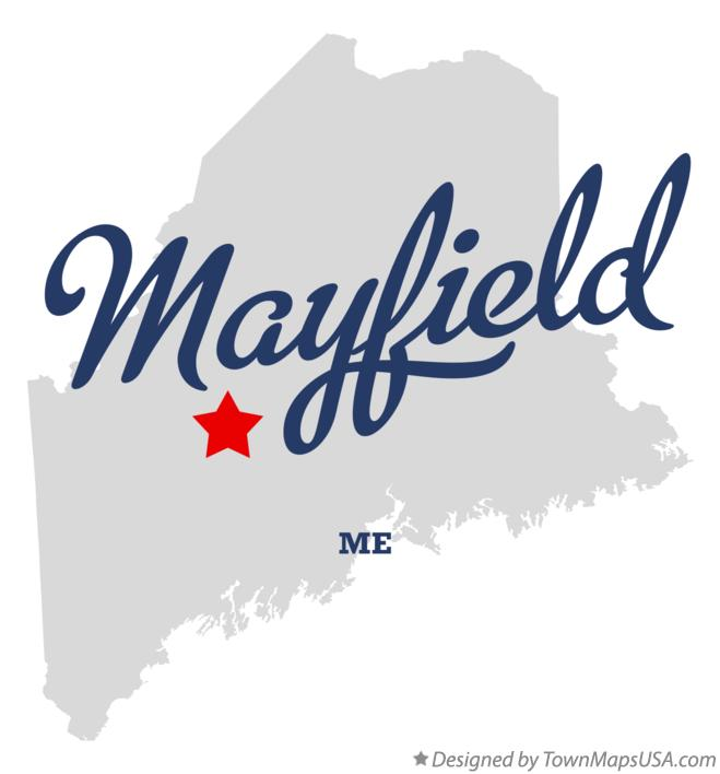 Map of Mayfield Maine ME