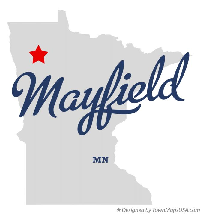 Map of Mayfield Minnesota MN