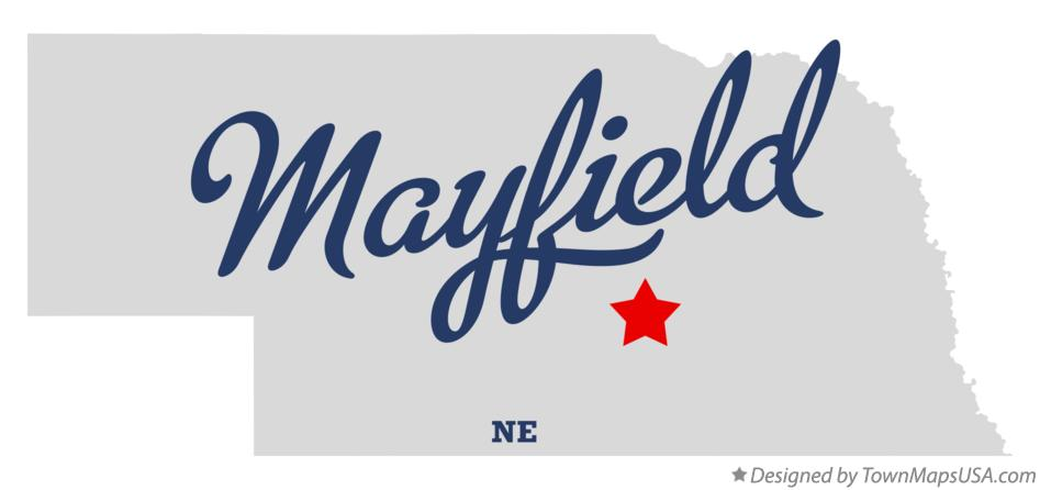 Map of Mayfield Nebraska NE