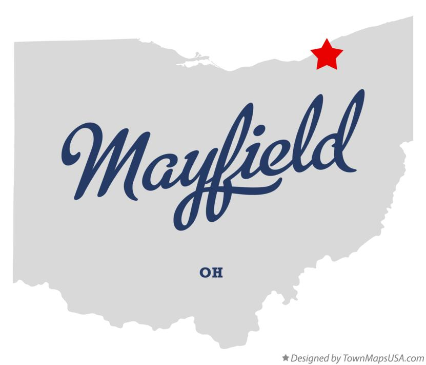 Map of Mayfield Ohio OH