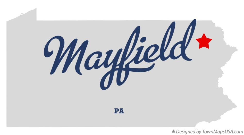 Map of Mayfield Pennsylvania PA