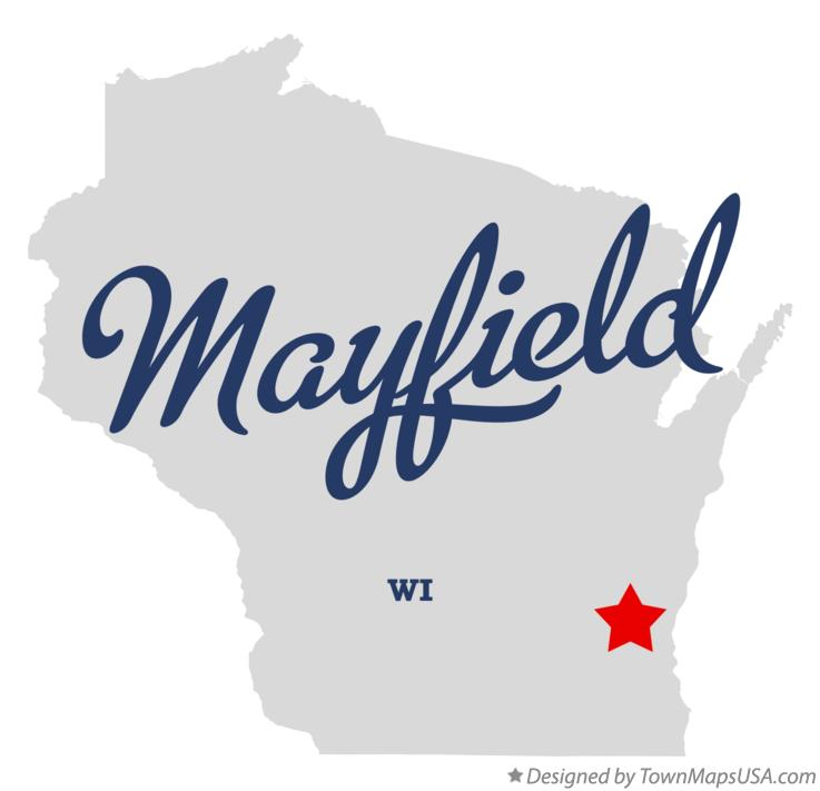 Map of Mayfield Wisconsin WI