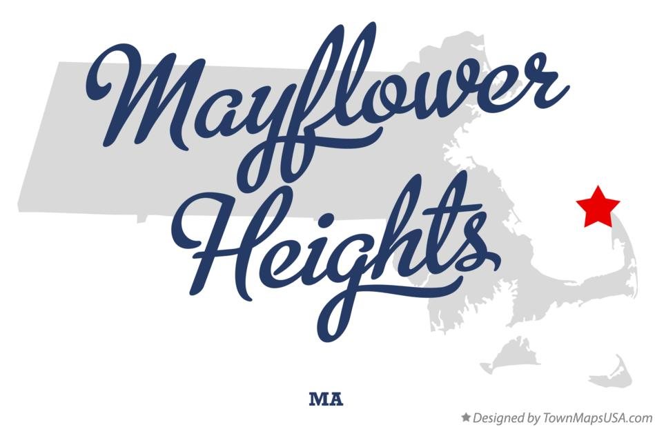 Map of Mayflower Heights Massachusetts MA