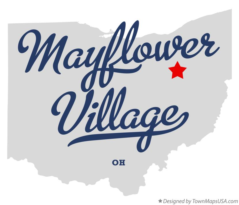 Map of Mayflower Village Ohio OH
