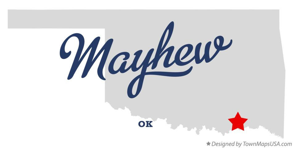 Map of Mayhew Oklahoma OK