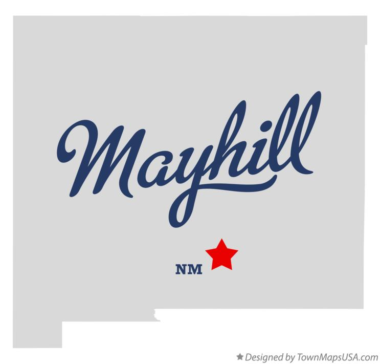 Map of Mayhill New Mexico NM