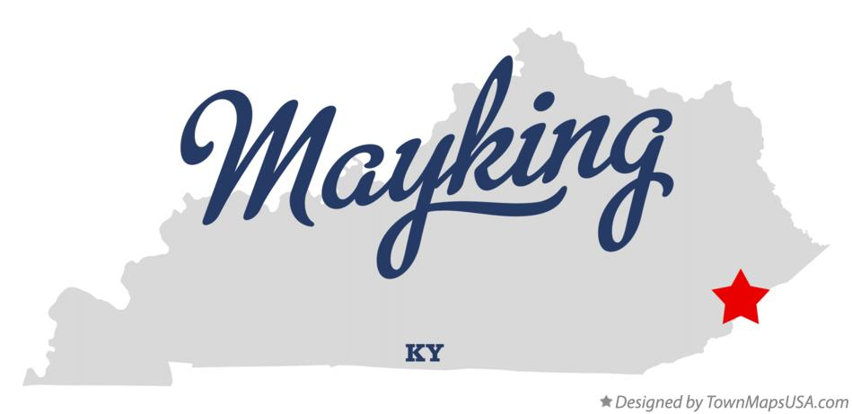Map of Mayking Kentucky KY