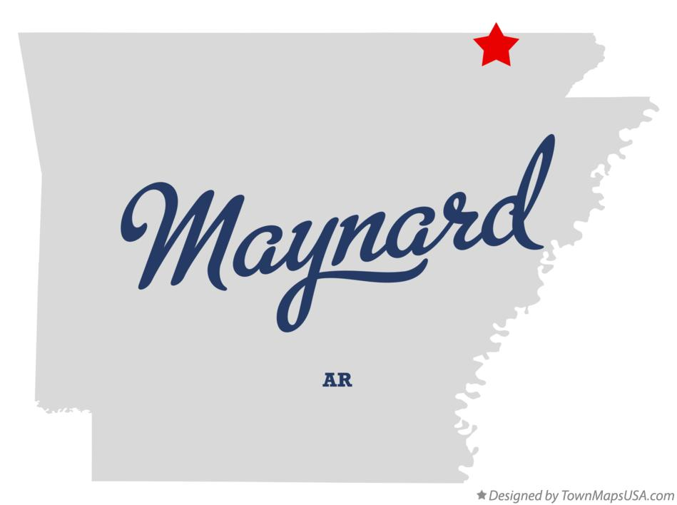 Map of Maynard Arkansas AR