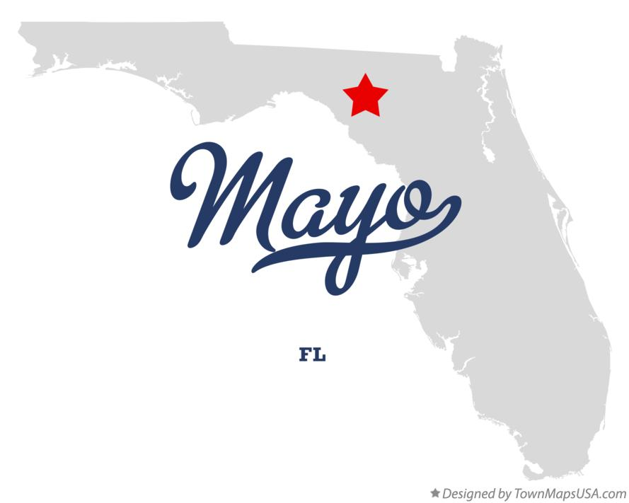 Map of Mayo Florida FL
