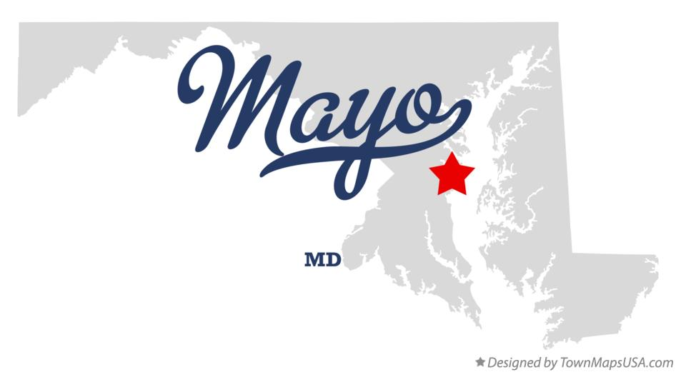 Map of Mayo Maryland MD