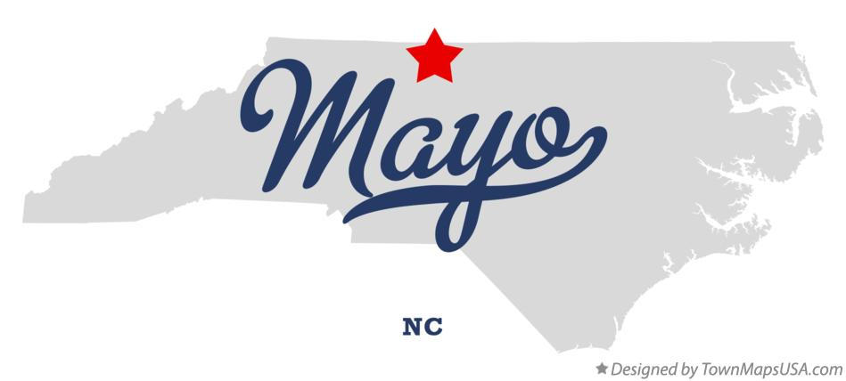 Map of Mayo North Carolina NC