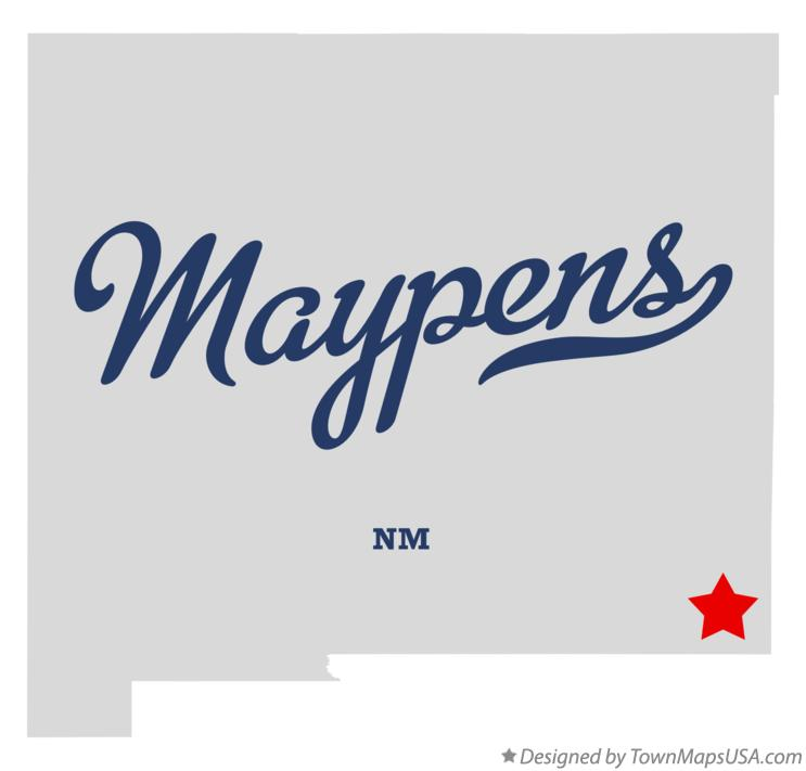 Map of Maypens New Mexico NM