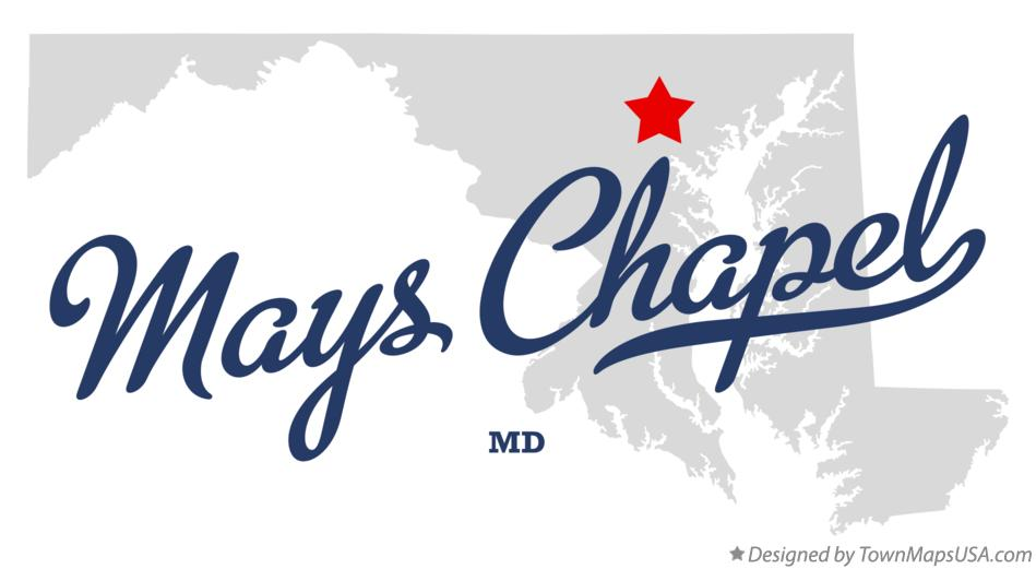 Map of Mays Chapel Maryland MD