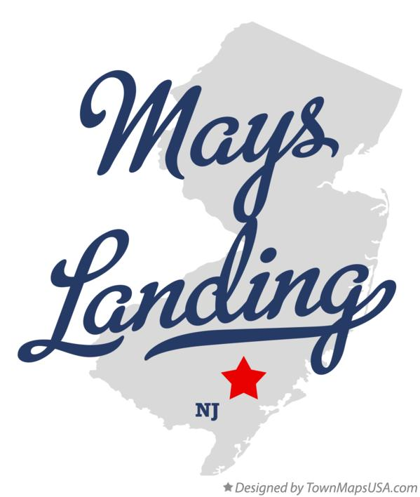 Map of Mays Landing New Jersey NJ