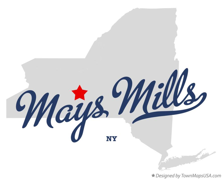 Map of Mays Mills New York NY