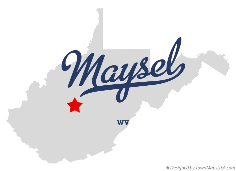Map of Maysel West Virginia WV