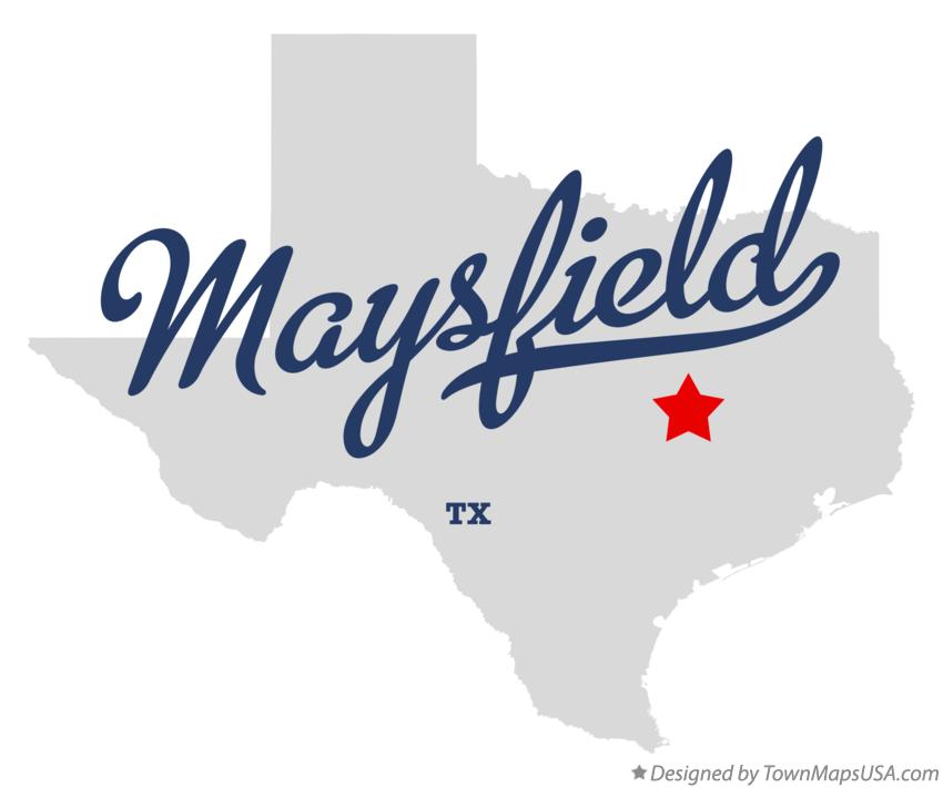 Map of Maysfield Texas TX