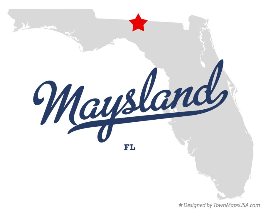 Map of Maysland Florida FL