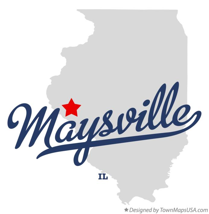 Map of Maysville Illinois IL